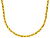 Bella Luce® 46.72ctw Yellow Diamond Simulant 18k Gold Over Silver Necklace