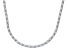 Bella Luce® 23.24ctw Oval Diamond Simulant Rhodium Over Silver Tennis Necklace