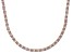 Bella Luce® 46.72ctw Oval Diamond Simulant 18k Rose Gold Over Silver Necklace