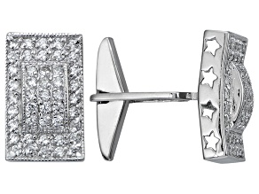 Bella Luce Rhodium Plated Sterling Silver Cufflinks