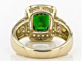 Green Chrome Diopside 10k Yellow Gold Ring 2.34