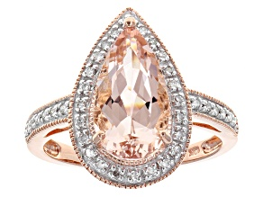 Pink Morganite 10k Rose Gold Ring 2.28ctw