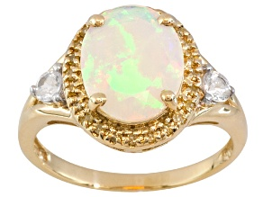 Ethiopian Opal 10k Yellow Gold Ring 1.91ctw