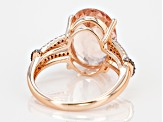 Pink Morganite 10k Rose Gold Ring 5.22ctw