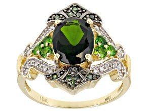 Green Chrome Diopside 10k Yellow Gold Ring 1.94ctw