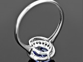 Blue Kyanite 10k White Gold Ring 1.61ctw