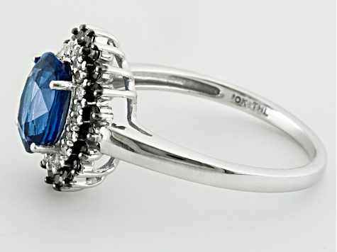Blue Kyanite 10k White Gold Ring 1.73ctw