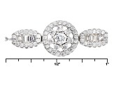 White Cubic Zirconia Rhodium Over Sterling Silver Adjustable Closure 1.70ctw