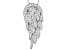 1.85ctw White Cubic Zirconia Sterling Silver Angel Wing Necklace