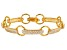 White Cubic Zirconia 18K Yellow Gold Over Sterling Silver Bracelet 6.19ctw