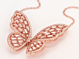 white cubic zirconia 18k rose gold over sterling silver necklace 4.74ctw