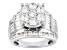 Cubic Zirconia Rhodium Over Silver Ring 7.14ctw