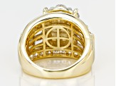 Cubic Zirconia 18k gold over sterling Silver Ring 7.14ctw