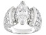 White Cubic Zirconia Rhodium Over Sterling Silver Bridal Ring 5.7ctw