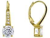 Cubic Zirconia 18K Yellow Gold Over Sterling Silver Earrings 4.85ctw