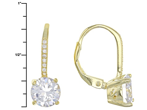 White Cubic Zirconia 18k Rg/Yg And Rhodium Over Sterling Silver Earrings 17.40ctw