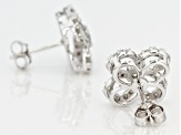 White Diamond 10k White Gold Earrings .50ctw