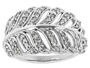 White Diamond 10k White Gold Ring .40ctw