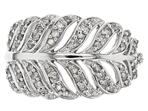 White Diamond 10k White Gold Ring .40ctw