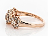 Champagne Diamond 10k Rose Gold Ring 1.00ctw
