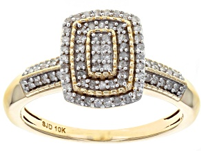 White Diamond 10k Yellow Gold Ring .25ctw