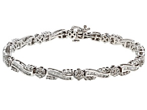 White Diamond 10k White Gold Bracelet 2.69ctw