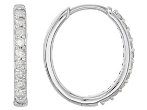 white diamond 10k white gold earrings .40ctw