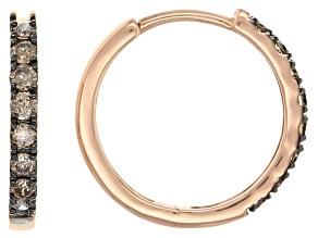 champagne diamond 10k rose gold earrings .50ctw