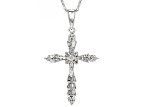 white diamond 10k white gold pendant .20ctw