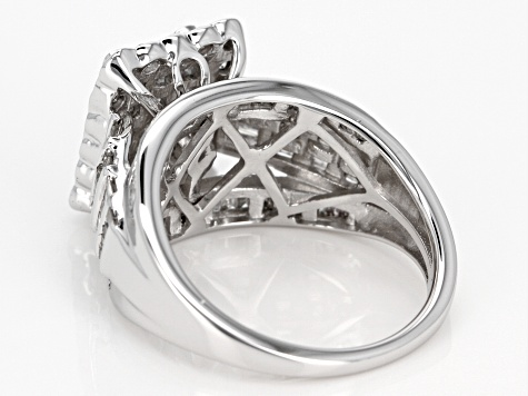 white diamond 10k white gold ring 2.05ctw