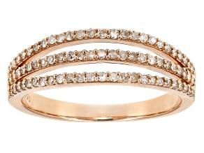 white diamond 10k rose gold ring .33ctw
