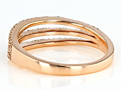 white diamond 10k rose gold ring .33ctw