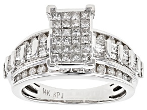 White Diamond 14k White Gold Ring 1.50ctw
