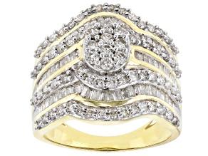 White Diamond 10k Yellow Gold Ring 1.75ctw