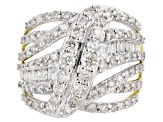 White Diamond 10k Yellow Gold Ring 2.00ctw