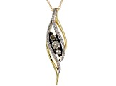 Champagne and White Diamond 10k Yellow Gold Pendant .25ctw