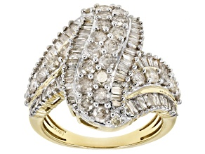 White Diamond 10k Yellow Gold Ring 2.35ctw