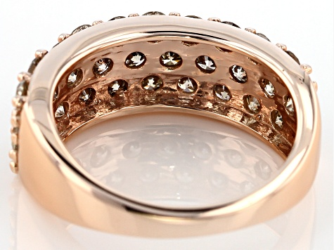 Champagne Diamond 10k Rose Gold Ring 2.00ctw
