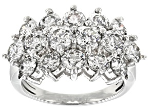 White Diamond 10k White Gold Ring 4.28ctw