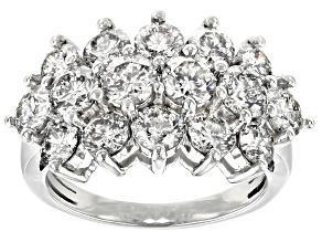 White Diamond 10k White Gold Ring 4.28ctw
