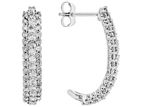 White Diamond 10k White Gold Earring 1.50ctw