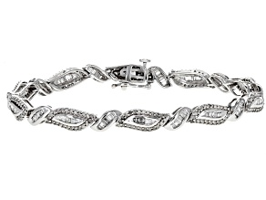 White Diamond 10k White Gold Bracelet 2.32ctw