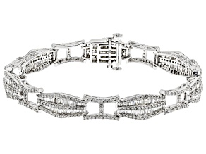 White Diamond 14k White Gold Bracelet 4.50ctw