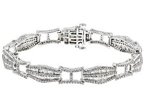 White Diamond 14k White Gold Bracelet 4.50ctw