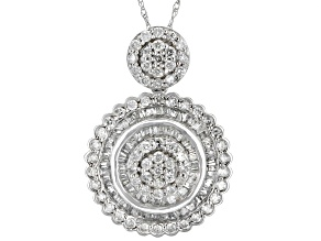 White Diamond 10k White Gold Pendant 1.40ctw