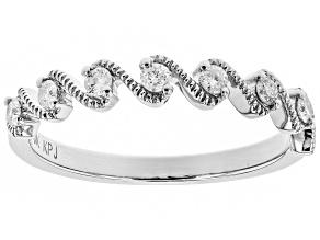 White Diamond 10k White Gold Ring .20ctw