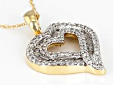 White Diamond 10k Yellow Gold Pendant .45ctw