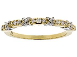 White Diamond 10k Yellow Gold Ring .20ctw