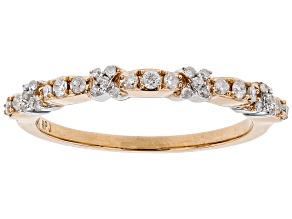 White Diamond 10k Rose Gold Ring .20ctw