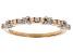 White Diamond 10k Rose Gold Ring .20ctw